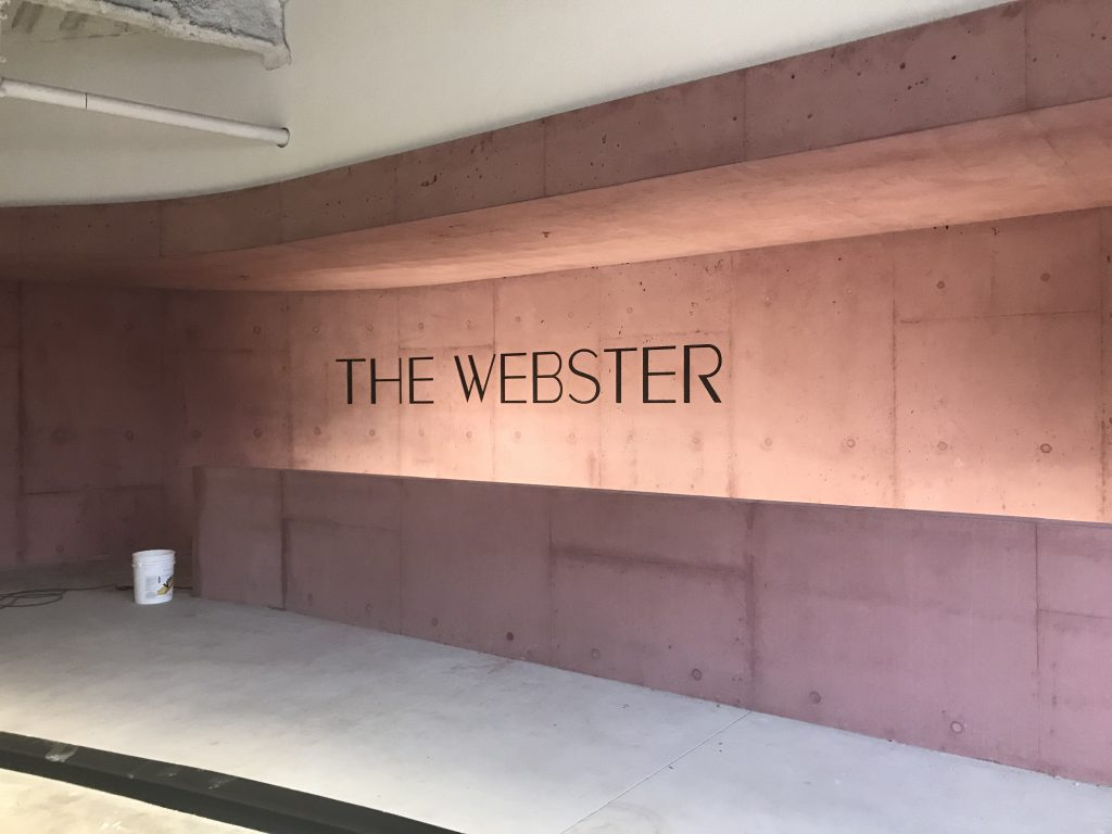 Custom pink color for The Webster.