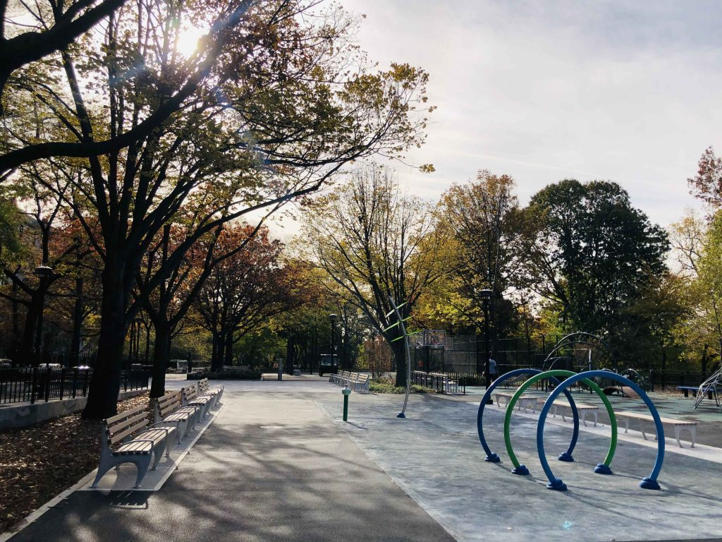 Integral Color: Brooklyn Blue and Porcelain Gray - Vernon Hills - Kossuth Playground, Bronx, NY