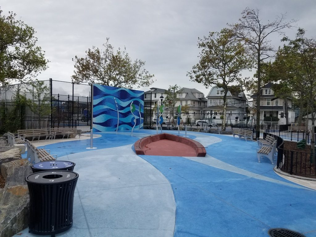 Integral Color: Custom Blue, Pueblo Brown, and Plum - W.A. Gross - Almeda Playground, Queens, NY