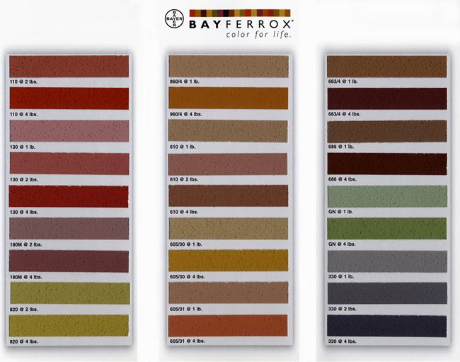 bayferrox_mortar_color_chart