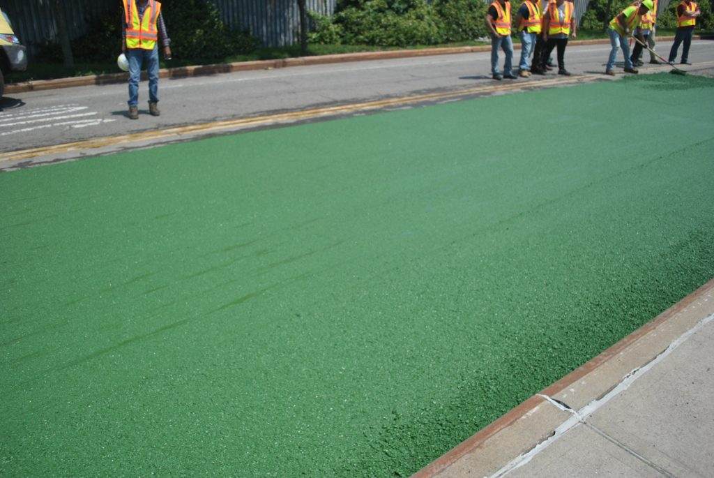 Integral Color: Green Asphalt - Brooklyn Naval Yard - Brooklyn, NY